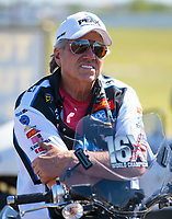 Apr 14, 2019; Baytown, TX, USA; NHRA funny car driver John Force during the Springnationals at Houston Raceway Park. Mandatory Credit: Mark J. Rebilas-USA TODAY Sports