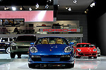 The Porsche stand at the North American International Auto Show, 2007