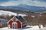 View of Camel's Hump in the Green Mountains from Waterbury, VT, USA