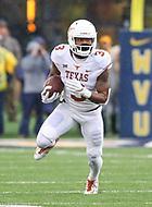 Morgantown, WV - November 18, 2017: Texas Longhorns wide receiver Armanti Foreman (3) runs the ball during game between Texas and WVU at  Mountaineer Field at Milan Puskar Stadium in Morgantown, WV.  (Photo by Elliott Brown/Media Images International)