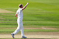 PICTURE BY ALEX WHITEHEAD/SWPIX.COM - Cricket - County Championship Div Two - Yorkshire v Glamorgan, Day 3 - Headingley, Leeds, England - 06/09/12 - Yorkshire's Steven Patterson celebrates the wicket of Glamorgan's Dean Cosker.
