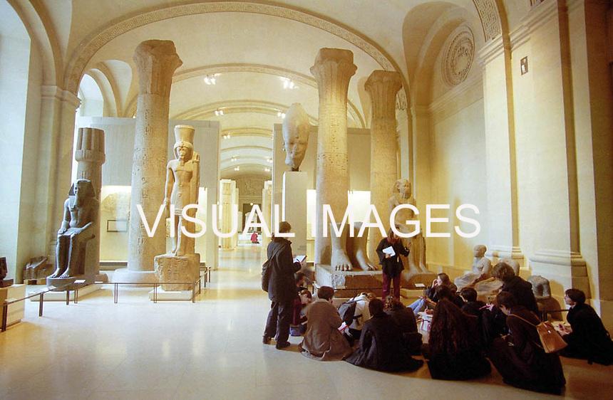 France,Paris 29/12/2002 : Louvre museum....de exposicao do antigo Egito...