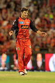 8th January 2018, The WACA, Perth, Australia; Australian Big Bash Cricket, Perth Scorchers versus Melbourne Renegades; Brad Hogg reacts to a second six hit off his bowling during hs last spell in the Scorchers innings