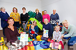 Promoting TUSLA Awareness Week an Info & Play session will take place in the Cahersiveen Community Centre on Wednesday 19th, relaunching the Bussy Bees's Baby & Toddler Group which is being supported by the South West Kerry Family Resource Centre pictured here front l-r; Nancy Holmes -Smith(Co-ordinator), Michael Quinlan, Paula Quinlan, Pippa Kearon, Phobe Kelleher, Karis Kelleher, back l-r; Rosarie Cournane, Colette Murphy, Amanda O'Sullivan, Brenda Duncan, Laura Ball & Wendy Goggin.