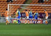 18/12/18 The Emirates FA Cup, 2nd Round Replay Blackpool v Solihull Moor<br /> <br /> Celebrations follow Adi Yussuf's goal