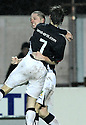 10/01/2009  Copyright Pic: James Stewart.File Name : sct_jspa25_falkirk_v_qots.GRAHAM BARRETT CELEBRATES AFTER HE SCORES FALKIRK'S FOURTH.James Stewart Photo Agency 19 Carronlea Drive, Falkirk. FK2 8DN      Vat Reg No. 607 6932 25.Studio      : +44 (0)1324 611191 .Mobile      : +44 (0)7721 416997.E-mail  :  jim@jspa.co.uk.If you require further information then contact Jim Stewart on any of the numbers above.........
