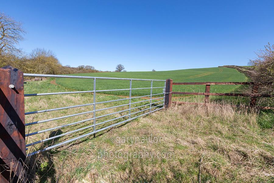 Gated feild entrance
