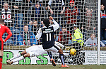 Wes Foderingham saves the penalty kick from Harry Panayiotou
