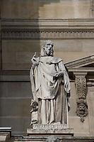 Saint Gregory of Tours (Grégoire de Tours), 538 - 594, Gallo-Roman historian and bishop of Tours, leading prelate of Gaul, Louvre Museum, Paris, France Picture by Manuel Cohen