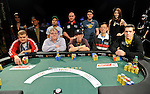 A group shot of the final table nine.