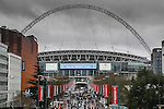 LONDON, ENGLAND - MARCH 29: North Ferriby and Wrexham fans arrive at Wembly Stadium ahead of the FA Carlsberg Trophy Final 2015 at Wembley Stadium on March 29, 2054 in London, England. (Photo by David Horn/EAP)