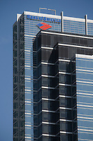 Bank of America logo in seen on their corporate office in Toronto financial district April 22, 2010. Bank of America Corporation (NYSE: BAC) is a financial services company, the largest bank holding company in the United States, by assets, and the second largest bank by market capitalization.