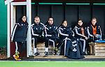 Solna 2015-10-11 Fotboll Damallsvenskan AIK - FC Roseng&aring;rd :  <br /> AIK:s tr&auml;nare chefstr&auml;nare Nazanin Vaseghpanah deppar med &ouml;vriga ledare och spelare p&aring; avbytarb&auml;nken under matchen mellan AIK och FC Roseng&aring;rd <br /> (Foto: Kenta J&ouml;nsson) Nyckelord:  Damallsvenskan Allsvenskan Dam Damer Damfotboll Skytteholm Skytteholms IP AIK Gnaget  FC Roseng&aring;rd depp besviken besvikelse sorg ledsen deppig nedst&auml;md uppgiven sad disappointment disappointed dejected tr&auml;nare manager coach
