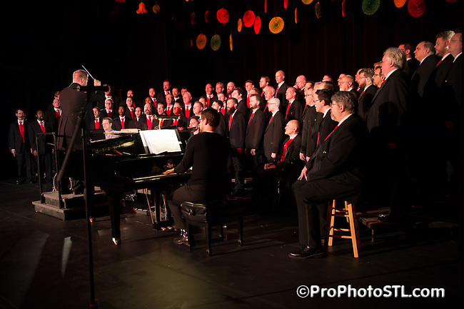 "Gateway Men's Chorus in ""Dear Future Husband"" concert at The Sun Theater in St. Louis, Missouri on March 10, 2016."