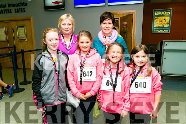 Katie O'Connor, Theresa O'Connor, Finola Hand, Grainne Hand, Roisin O'Se and Marie Hand from Dingle at the Kerry Airport Runway 5k Fun Run 7th October in aid of Cystic Fibrosis supported by The Rugby clubs of West Munster sponsored by Garveys Supervalu Group