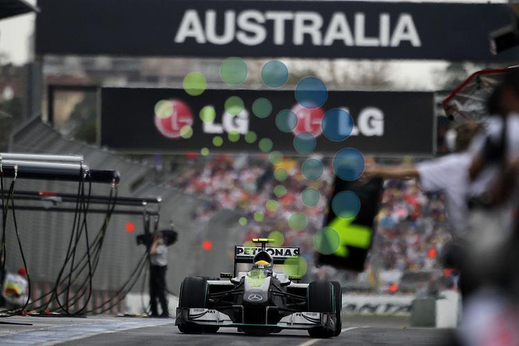 F1 GP of Australia, Melbourne 26. - 28. March 2010.Nico Rosberg (GER), Mercedes GP ..Hasan Bratic;Koblenzerstr.3;56412 Nentershausen;Tel.:0172-2733357;.hb-press-agency@t-online.de;http://www.uptodate-bildagentur.de;.Veroeffentlichung gem. AGB - Stand 09.2006; Foto ist Honorarpflichtig zzgl. 7% Ust.;Hasan Bratic,Koblenzerstr.3,Postfach 1117,56412 Nentershausen; Steuer-Nr.: 30 807 6032 6;Finanzamt Montabaur;  Nassauische Sparkasse Nentershausen; Konto 828017896, BLZ 510 500 15;SWIFT-BIC: NASS DE 55;IBAN: DE69 5105 0015 0828 0178 96; Belegexemplar erforderlich!..