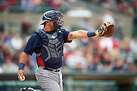 Toledo Mudhens catcher Miguel Gonzalez (13) during a game against the Rochester Red Wings on June 12, 2016 at Frontier Field in Rochester, New York.  Rochester defeated Toledo 9-7.  (Mike Janes/Four Seam Images)
