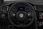 Car pictures of steering wheel view of a 2017 Volkswagen Golf R 5 Door Hatchback