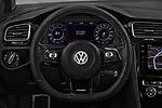 Car pictures of steering wheel view of a 2017 Volkswagen Golf R 5 Door Hatchback