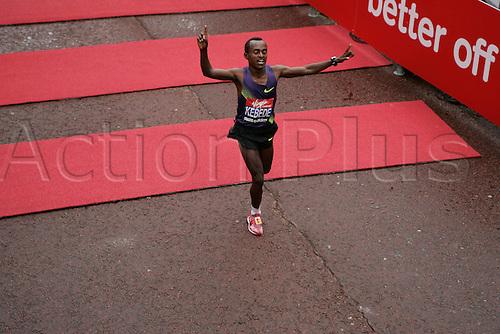 25th Aoril 2010- 30th London Marathon, Kebede Tsegaye winning the london marathon in 2.05.19