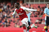 Fol Balogun celebrates scoring Arsenal's first goal during Arsenal Youth vs Blackpool Youth, FA Youth Cup Football at the Emirates Stadium on 16th April 2018