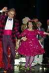 MARISSA JARET WINOKUR and DICK LATESSA<br />( Curtin Call )<br />HAIRSPRAY The Broadway Musical<br />Opening Night at the Neil Simon Theatre<br />Party at Roseland<br />New York City<br />August 15,2002