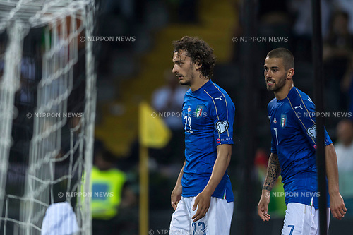 Manolo Gabbiadini (ITA), JUNE 11, 2017 - Football / Soccer : Manolo Gabbiadini (L) of Italy celebrates after scoring their 5th goal during the FIFA World Cup Russia 2018 European Qualifier Group G match between Italy 5-0 Liechtenstein at Dacia Arena in Udine, Italy. (Photo by Maurizio Borsari/AFLO)