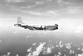 The KC-97 was derived from the B-29 Superfortress bomber, using the same wing, engine, and tail. The new fuselage had a double-bubble configuration. The C-97 served a varied mission when active; in addition to both troop and cargo transport and tanker roles, it was used for medical evacuation, Search And Rescue (SAR) and by the Israeli Air Force, as an Electronic Countermeasures (ECM) platform. Boeing's KC-97 Stratofreighter aerial tanker was an instrumental factor in providing Strategic Air Command (SAC) with genuine intercontinental capability. Over 800 Stratofreighters were received between 1951 and 1956, by which time no less than 36 squadrons, used the type. During their lifetime, the KC-97s transferred millions of gallons of fuel in air-to-air operations. Operations involving air refuelings average 2,880 contacts per week, or one aerial servicing every three and a half minutes. As an example of use and efficiency, the 2nd Air Refueling Squadron, at Hunter Air Force Base, Georgia, conducted tests in early 1955. The refueling squadron transferred a total of 563,270 gallons of fuel to SAC B-47 in 16 scheduled days of flying- setting a record. Since its creation four years previously, the 2nd ARS had transferred more than 6 million gallons of fuel in mid-air..Credit: U.S. Air Force via CNP