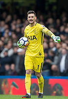 Goalkeeper Hugo Lloris of Spurs during the Premier League match between Chelsea and Tottenham Hotspur at Stamford Bridge, London, England on 1 April 2018. Photo by Andy Rowland.