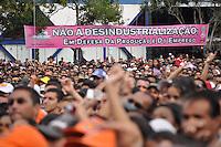 SAO PAULO, SP, 01 DE MAIO  DE 2012 -  1º DE MAIO UNIFICADO - Show da banda KLB durante dia do trabalhador unificado que foi comemorado com ato organizado pela Força Sindical e diversos outros sindicatos na praça Campos de Bagatelle, zona norte da cidade. FOTO: LEVI BIANCO - BRAZIL PHOTO PRESS