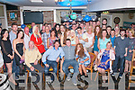 Key to the door: David Leahy, Muing, Tralee (seated centre) had a great night in Linnane's bar, Tralee celebrating his 21st birthday along with many friends and family.