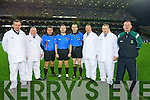 Kerry Referee Padraig O'Sullivan and his team who were the match officials for the Intermediate all Ireland final at Croke park on Saturday Left to Right : Frank O' Mahony (Firies), Denis McCrohan (Renard), Joe Curley (Meath), Padraig O' Sullivan(Firies), Fergal Kelly (Longford), Pat Sheehy (Clounmacon), Declan Twomey (Rathmore) and Niall Ward (Westmeath).