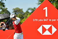 SINGAPORE - MARCH 03: Minjee Lee of Australia on the 1st tee during the final round of the HSBC Women's World Championship 2019 at Sentosa Golf Club - Tanjong Course, Singapore on March 03, 2019.<br /> .<br /> .<br /> .<br /> (Photo by: Naratip Golf Srisupab/SEALs Sports Images)<br /> .<br /> Any image use must include a mandatory credit line adjacent to the content which should read: Naratip Golf Srisupab/SEALs Sports Images