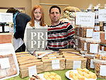 Scott and Jessica Farmer of Farmers Artisan Produce pictured at the Drogheda Market held in St. Peter's Parish Hall. Photo:Colin Bell/pressphotos.ie