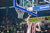 9th February 2018, Aleksandar Nikolic Hall, Belgrade, Serbia; Euroleague Basketball, Crvenz Zvezda mts Belgrade versus AX Armani Exchange Olimpia Milan; Center Alan Omic of Crvena Zvezda mts Belgrade in action under the basket