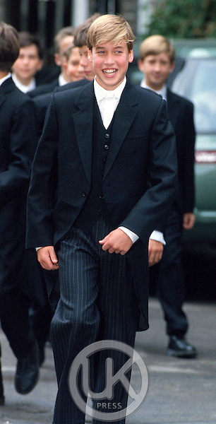 PRINCE WILLIAM ON HIS FIRST DAY AT ETON COLLEGE..PICTURE: UK PRESS