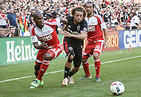 Washington, D.C. - Saturday, June 25, 2016: D.C. United defeated the New England Revolution 2-0 in an MLS match at RFK Stadium.