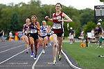 28 MAY 2016: Katie McMenamin of Swarthmore crosses the finish line of the women's 100 meter race during Division III Men's and Women's Outdoor Track & Field Championship held at Walston Hoover Stadium on the Wartburg College campus in Waverly, IA. McMenamin won the race with a time of 4:24.33. Conrad Schmidt/NCAA Photos