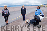 Enjoying the morning on Rossbeigh Strand on Monday.<br /> L to r: Geraldine O'Sullivan (Killorglin), Bridget Murphy (Glenbeigh) and Joanne Falvey (KIllorglin).
