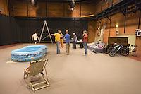 Europe/Pologne/Lodz: Ecole Supérieure d'art Cinématographique, Televisuel et Théatral rue Targowa ou furent formés Polanski, Wajda… répétition d'une pièce de Théatre de Shakespeare
