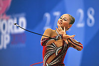 Daria Kondakova of Russia performs with rope at 2010 Pesaro World Cup on August 29, 2010 at Pesaro, Italy.  Photo by Tom Theobald.