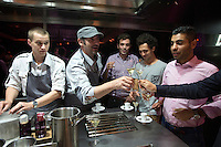 Diners are invited into the kitchen to share drinks and deserts with Chef Paul Pairet at his Ultraviolet restaurant in Shanghai, China on 27 July 2013.<br /> <br /> Photo by Qilai Shen / Sinopix