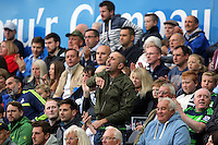 Swansea supporters during the Barclays Premier League match between Swansea City and Tottenham Hotspur played at The Liberty Stadium, Swansea on October 4th 2015