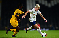 Alex Greenwood of England in action during the Women's International friendly match between England Women and Australia at Ashton Gate, Bristol, England on 9 October 2018. Photo by Bradley Collyer / PRiME Media Images.
