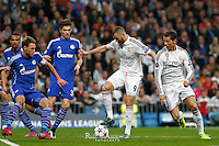 Real Madrid´s French forwards Karim Benzema and Cristiano Ronaldo