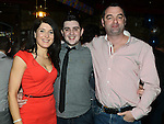 Alan Morris celebrating his 18th birthday in Sarsfields with mam Karen and dad Brian. Photo:Colin Bell/pressphotos.ie