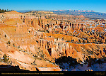 Queen's Garden and Fairyland Canyon Hoodoos, Sinking Ship Mesa and Aquarius Plateau in Winter, Bryce Canyon National Park, Utah