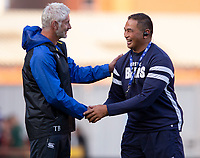 Bath Rugby's Head Coach Todd Blackadder. And Bristol Bears' Head Coach Pat Lam<br /> <br /> Photographer Bob Bradford/CameraSport<br /> <br /> Gallagher Premiership - Bristol Bears v Bath Rugby - Friday August 31st 2018 - Ashton Gate - Bristol<br /> <br /> World Copyright © 2018 CameraSport. All rights reserved. 43 Linden Ave. Countesthorpe. Leicester. England. LE8 5PG - Tel: +44 (0) 116 277 4147 - admin@camerasport.com - www.camerasport.com