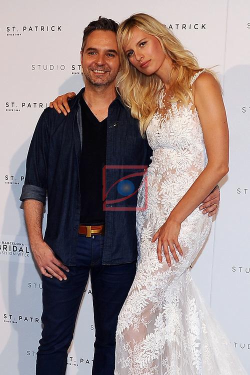 Barcelona Bridal Fashion Week 2017.<br /> St. Patrick.<br /> Herve Moreau &amp; Karolina Kurkova.