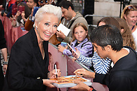 "Emma Thompson<br /> arriving for the premiere of ""The Children Act"" at the Curzon Mayfair, London<br /> <br /> ©Ash Knotek  D3420  16/08/2018"